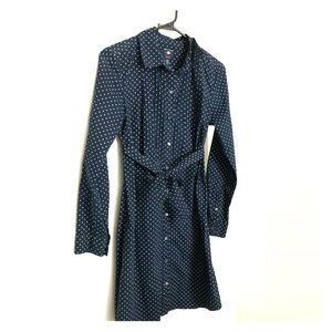 Tommy Hilfiger dress navy w/ polka dots